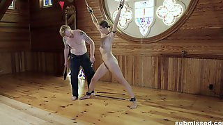 Blonde Submissive Slut Ava Chained Up And Abused With Toys