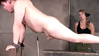 Mistress London River Abuses A Chubby Guy With A Small Dick
