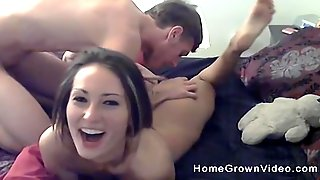 Playful Amateur Babe Lies On The Bed Ready For A Cock From Behind