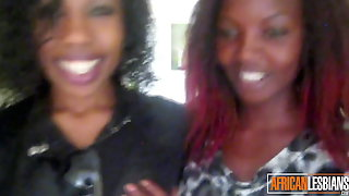 African Booty Licked By First Time Lesbian