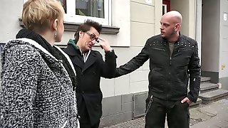 Fucker Conny Dachs And His Fellow Pick Up One Chick And Bang Her Both Holes