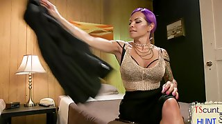 TS Mistress Flogging Busty Submissive