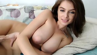 CAM-LADIES #2 Perfect Natural Big Tits Girl Webcam Fingering Herself