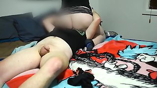 Brother GETS CHUBBY STEP SISTER HIGH TO WATCH HER TOY AND SIT ON HIS FACE