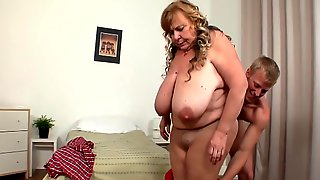 What A Pussy ... Beautiful Grannys Sex With A Lucky Guy