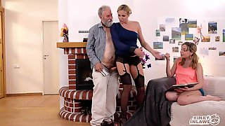 Lucky Old Man Fucks 18-Year-Old And Saucy Girl - High Definition