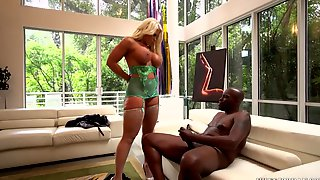 Very Busty Blond Hair Lady Had Intercourse By A Big Black Saus - Alura Jenson