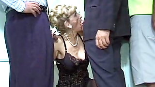 Horny Mature Teacher - Masturbation Turns Into Gangbang
