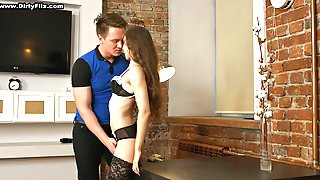 Russian Cutie Stephanie Moon Gives A Blowjob And Gets Laid For Cash