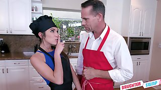 Dirty Savannah Sixx And Her Amazing Friend Enjoy Group Sex In The Kitchen