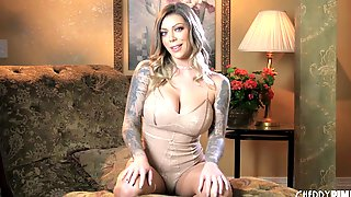 Karma Rx Plays With Her Big Tits And Juicy Pussy In A Masturbation Tease