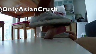 Indonesian Grey Sneakers Cock Crush (no Cum)