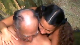 Very Ugly Grandfather Fucks A Beauty