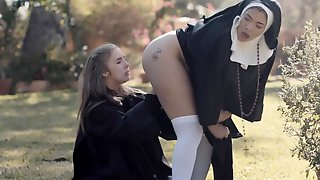 Nothing Can Turn Horny Cassidy Banks On Like Her Lesbian Friend In Uniform