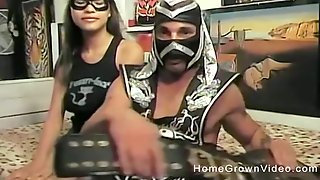 Masked Couple In A Hardcore Fetish Fuck Session On Webcam