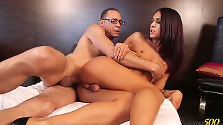Tall And Sexy Ladyboy Khloe Kay Lures Plumber And Gives Him A Ride