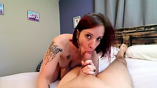 All Natural Mom Welcomes StepSon Home From Prison With POV Sex & Creampie#3