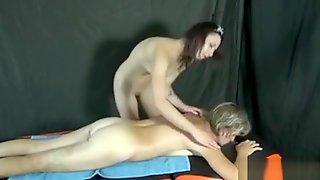 Granny Gets A Hot Massage