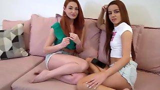 SisLovesMe - Kinky Ginger Friends Tag Team  Stepbro