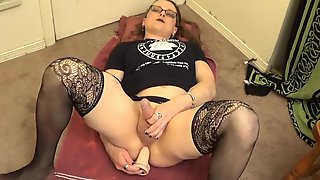 Goth Trans Ladys First Anal Dildo Fuck