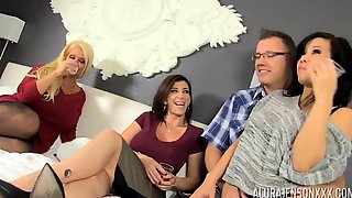 Alura And Sara Foursome With A Couple - Alura Jenson