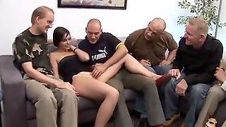 Silvia Rubi - Spanish Girl + German Men Gangbang