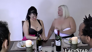 Brit GILF Shares Big Fat Cock With Her Swinger Friend