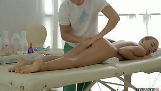 Svelte Fresh Gal Candy Julia Rides Sloppy Cock Of Her Private Masseur