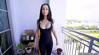 After She Finish Her Training This Girl Gets Her Pussy Pounded By A Guy