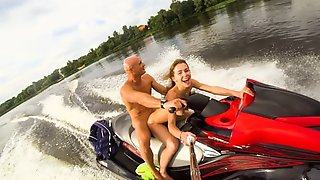 Public Butt Sex Ride On The Jet Ski - Mia Bandini