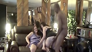 Tisha And A Friend Share A Black Cock While Hubby Films