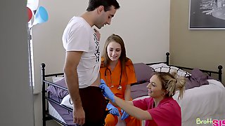 One Dude Fucks Stepsister Chloe Temple And Her Filthy Girlfriend