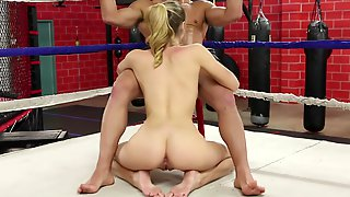 Young Female Fighter Natalia Takes A Big Dick In Boxing Ring