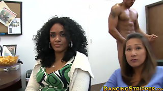 Black And White Strippers Take Turns Fucking Party Gals Hard