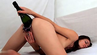 Extreme Pussy Destruction Slut Bottle Fucking