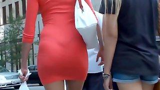Riquisima Tail In Orange Dress