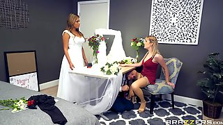 Sexy Bridesmaid In Stockings Hooks Up With The Groom. Part 1 Of 2.