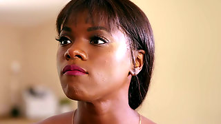 Slim Ebony Ana Foxxx Receives A Gigantic Load All Over Her Pretty Little Face