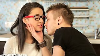 Svelte Slavic Nerdy Gal Izi Ashley Gets Her Russian Pussy Banged From Behind