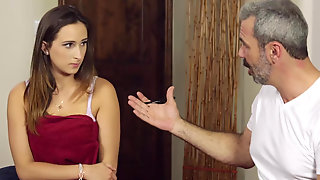 Caring Mom Hires A Licensed Masseur To Help Her Daughter Ashley Adams With The Physical Distress