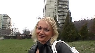 Amateur Blonde Babe From The Street Agrees To Suck Cock