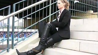 Business Lady In Boots