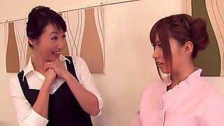 Naked Lesbian Massage With Two Japanese Milfs