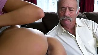 BLUE PILL MEN - A Couple Of Old Men Have Fun With Young Aaliyah Hadid