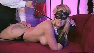 Elegant Teasing Babe Rachael Cavalli Gets Cum On Her Face Mask