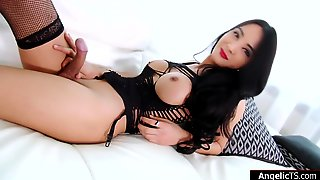 Busty Asian Shemale Toon Fucks A Geltoy