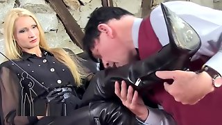 Slave Lick Her Long Boots