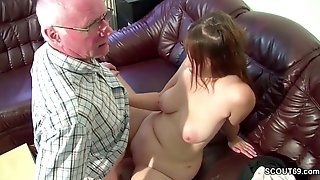 72yr Grand Dad Fucks Chubby Teen Girl With Big Boobs