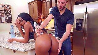 Black Hottie Takes The White Cock For A Few Wild Rounds