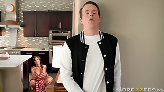 Fucking A Hot Housewife With Massive Natural Tits